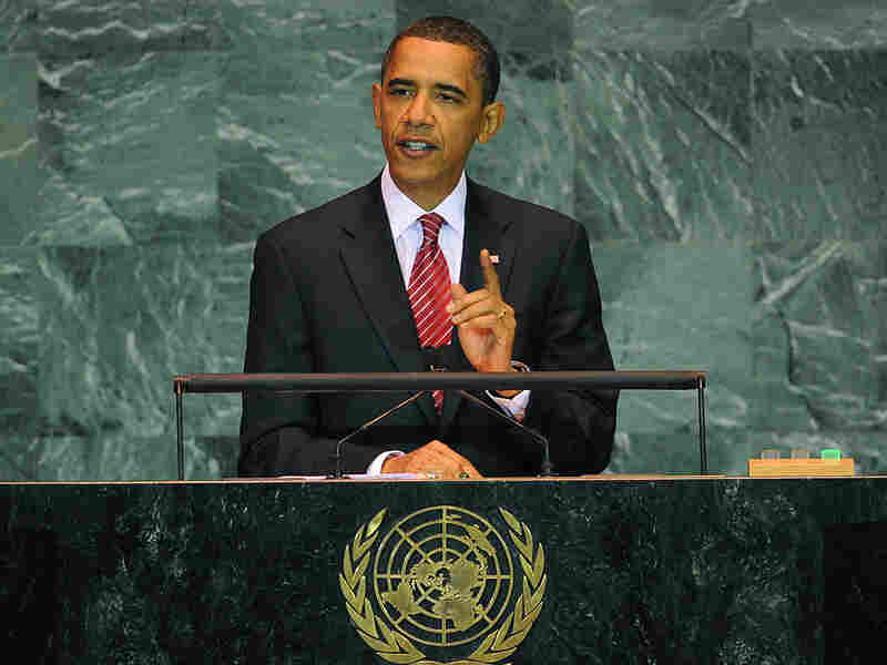 President Obama speaks during the United Nations General Assembly.