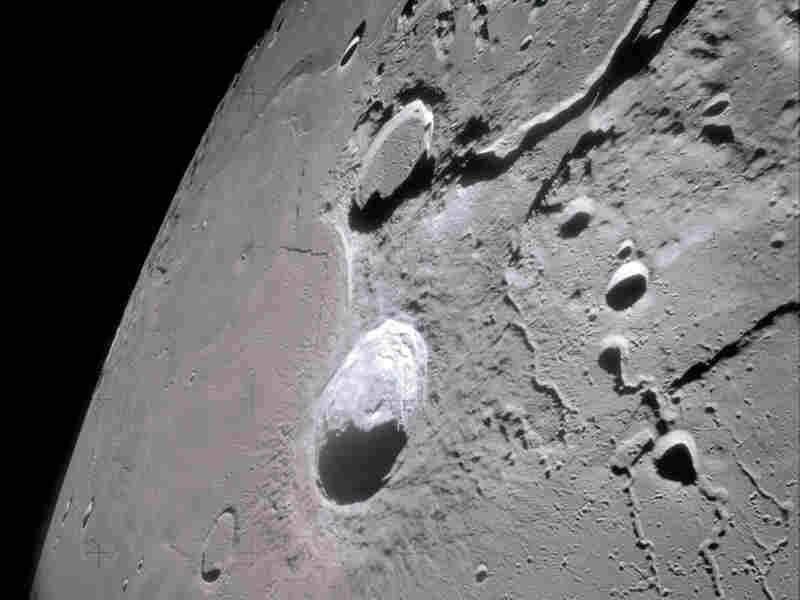 A partial moon view