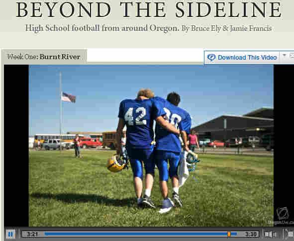 Screengrab of 'Beyond the Sideline' slideshow on Oregonlive.com