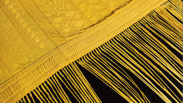 Spider Silk used to weave this beautiful tapestry