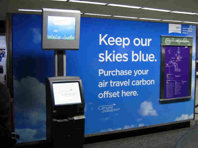 A Climate Passport kiosk in the San Francisco Airport.