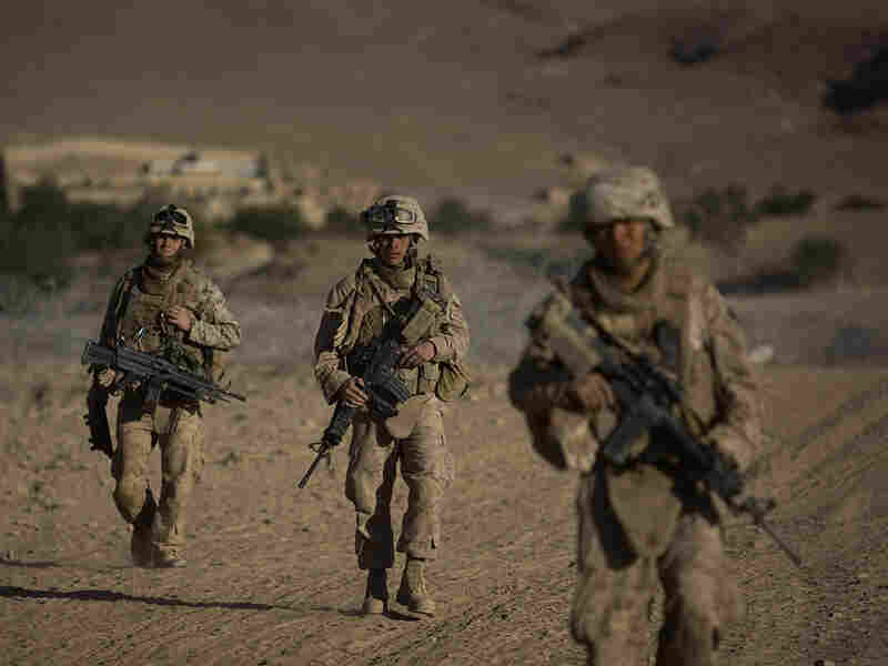 U.S. Marines from Fox Company 2nd Battalion 3rd Marines