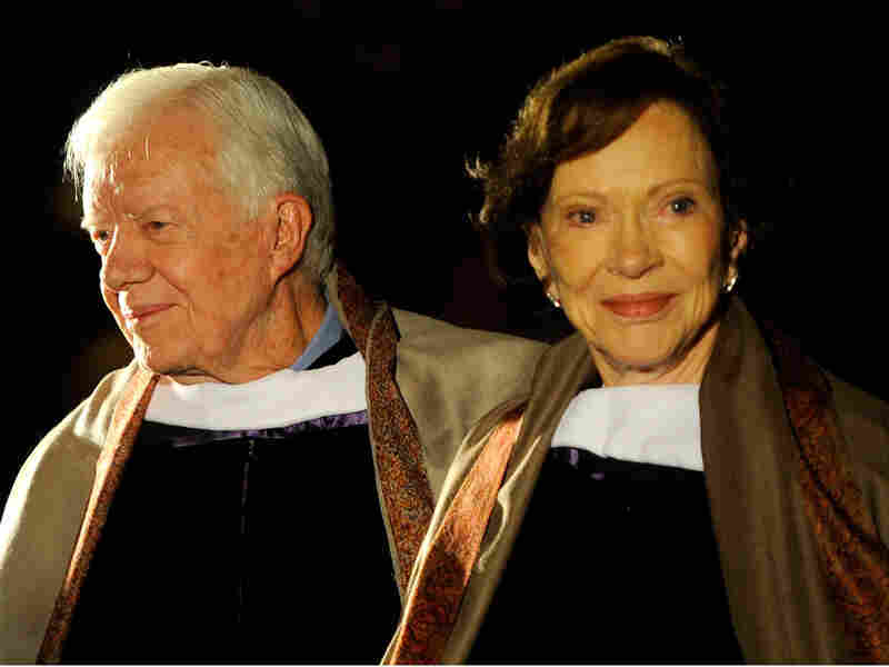 Former President and first lady Jimmy and Rosalynn Carter