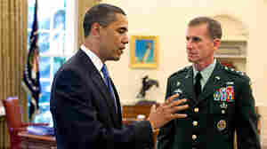 President Obama meets with Lt. Gen. Stanley A. McChrystal