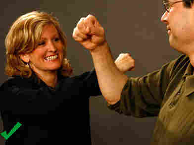 Try touching forearms instead of bumping fists in greeting to avoid flu.