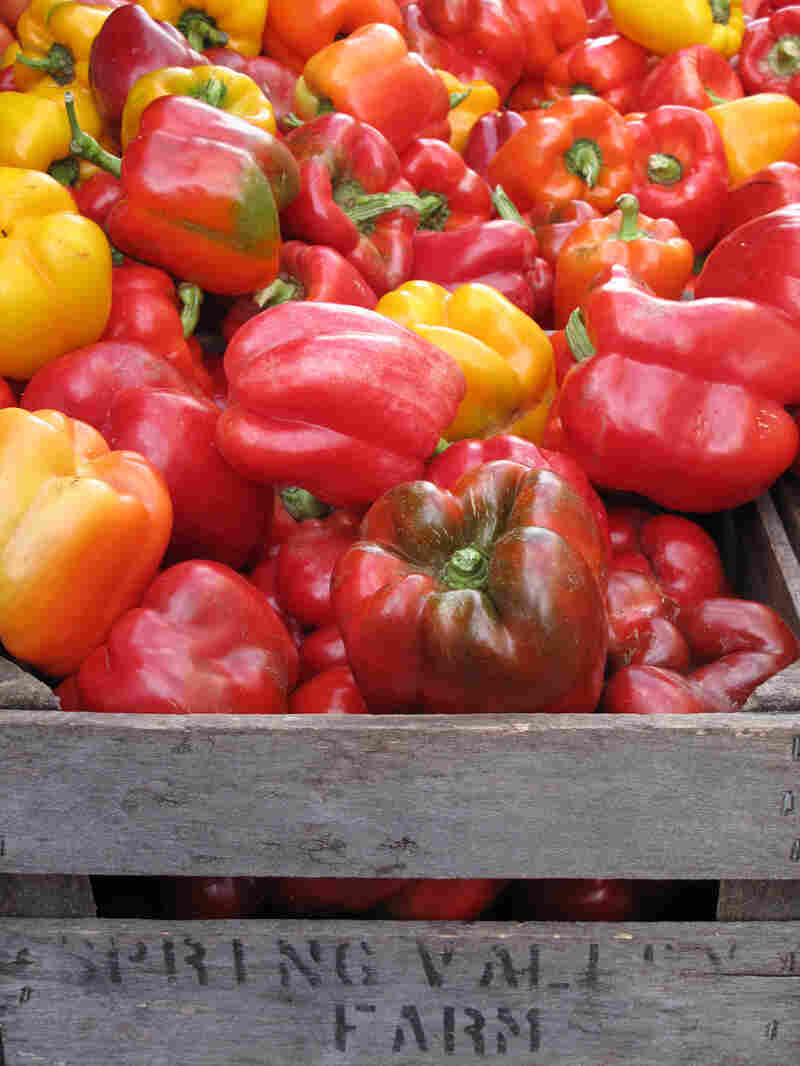Peppers for sale at what locals are calling the White House Farmers Market, in Washington, D.C.