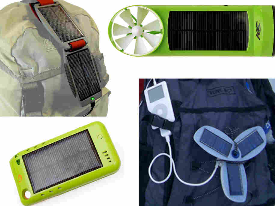 Solar chargers, from top