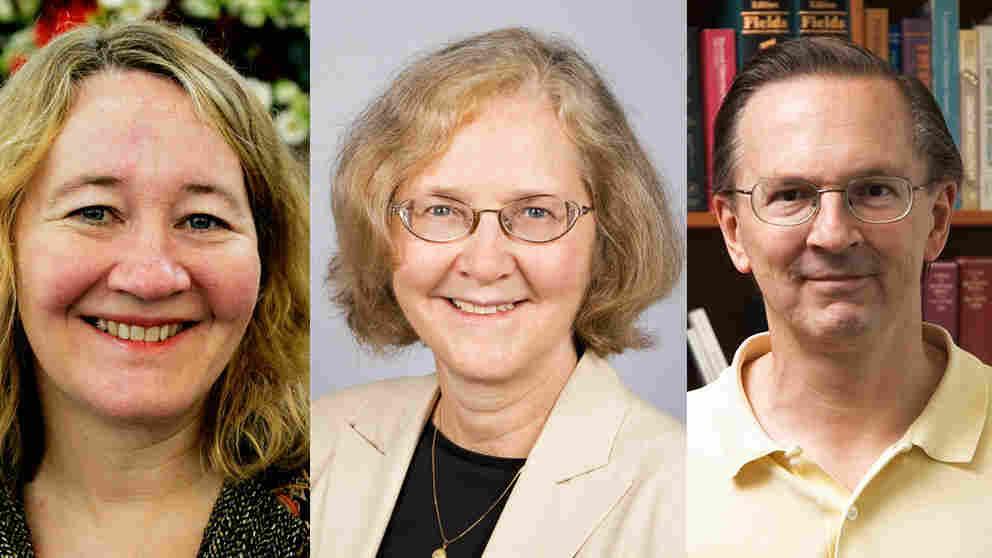 Carol Greider (from left), Elizabeth Blackburn and Jack W. Szostack