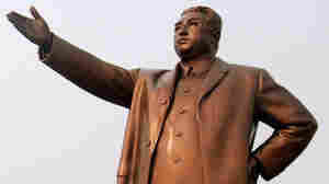 WIDE: Bronze statue of Kim Il Sung, founder of North Korea, in Pyongyang