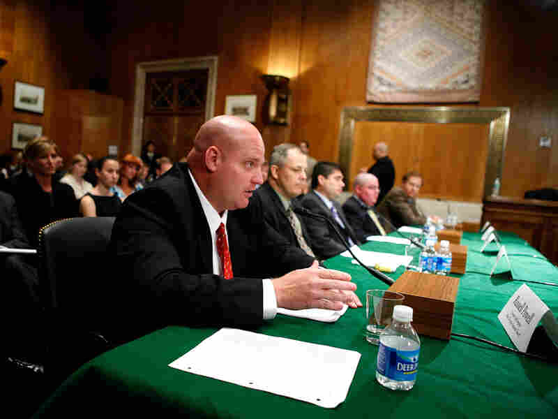 Russell Powell testifies in Washington in August.