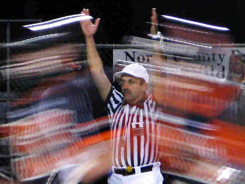 Gilbert signals a score.