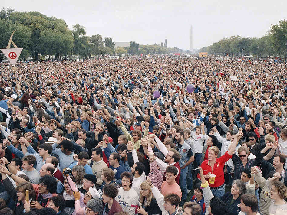 The March on Washington in D.C. in 1987