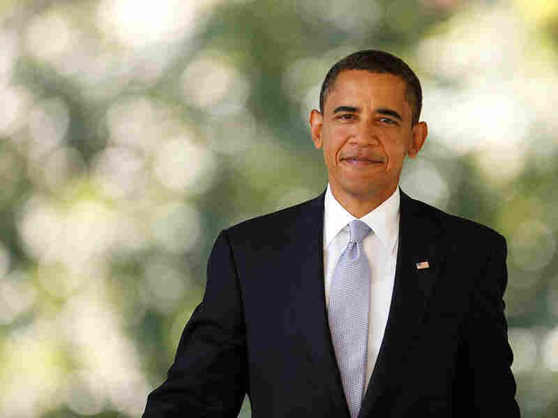 President Obama in the Rose Garden