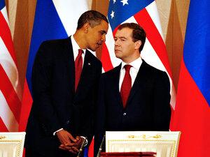 President Obama and Russian President Dmitry Medvedev.