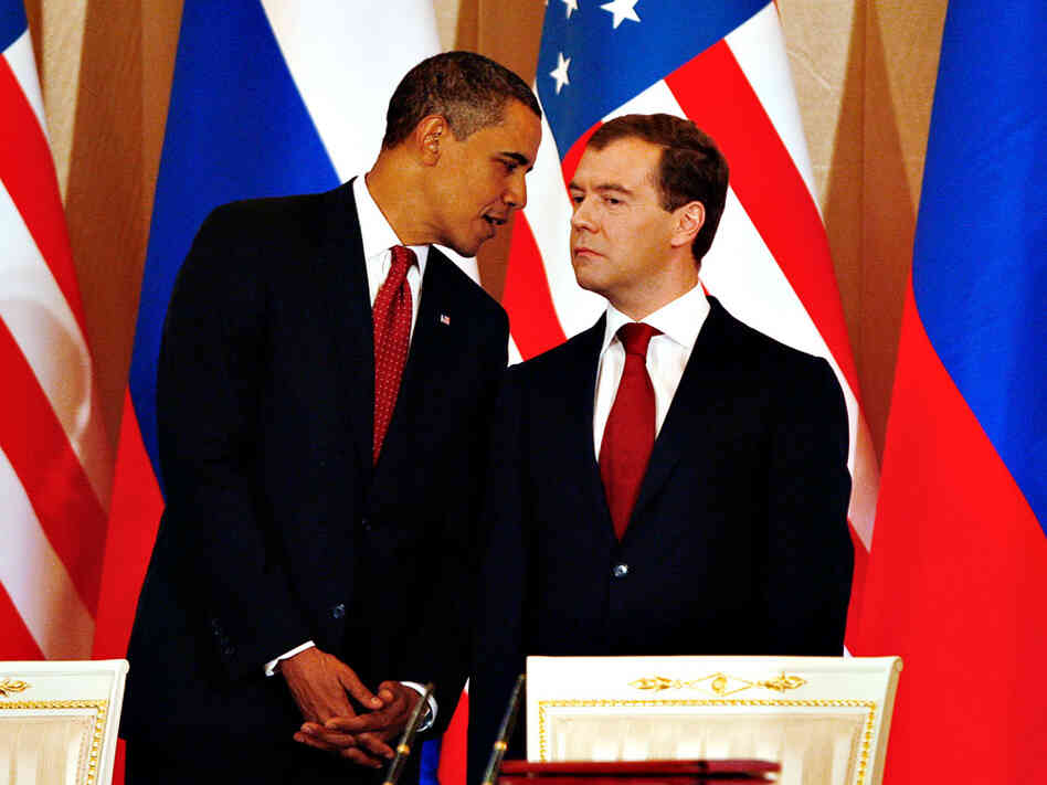 President Obama and Russian President Dmitry Medvedev.