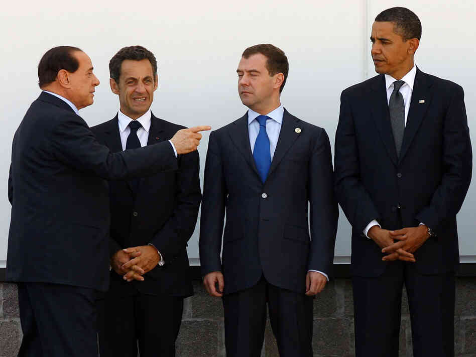 Obama poses for a photo at the G8 with other world leaders.