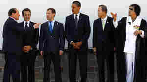 Wide: Obama poses for a photo at the G8 with other world leaders.