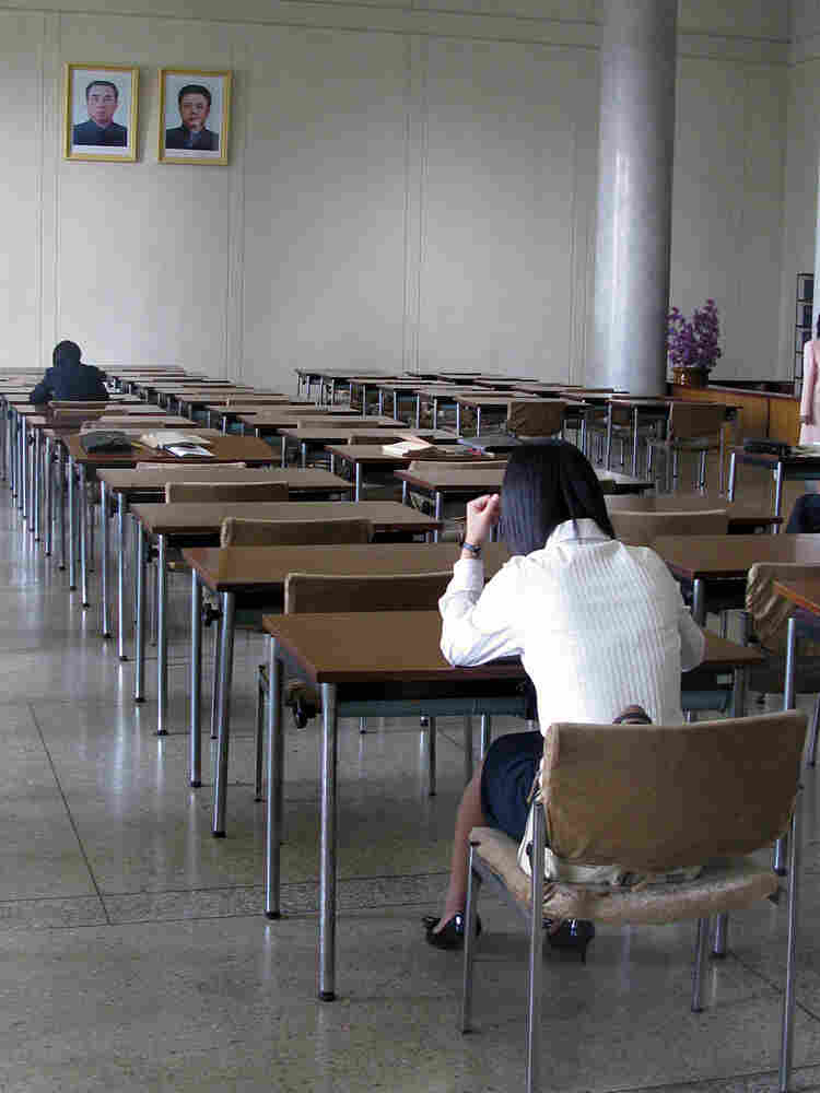 Reading room of the Great people's Study Hall in Pyongyang