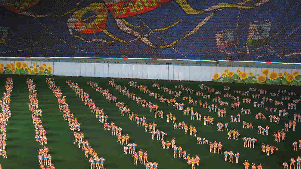 WIDE: Thousands of young performers take part in the Arirang Mass Games