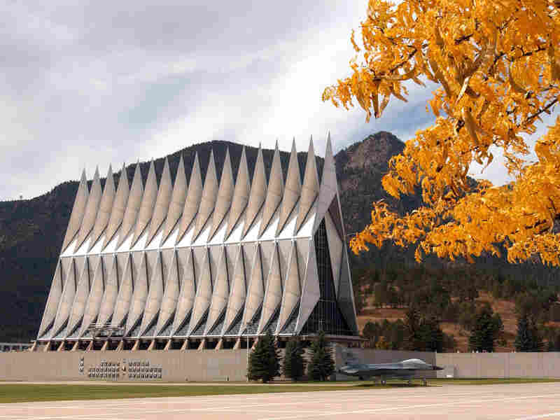The Cadet Chapel at the Air Force Academy in Colorado Springs, Colo.