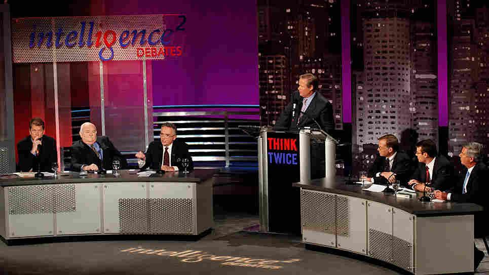 ABC's John Donvan moderates an Intelligence Squared U.S. debate.
