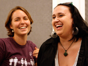 Leisl and Amanda, leaders of an acting group to increase awareness of mental health issues.