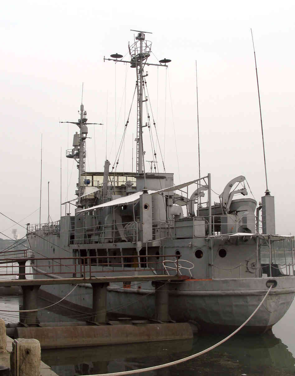 The USS Pueblo, moored on the Taedong River in Pyongyang