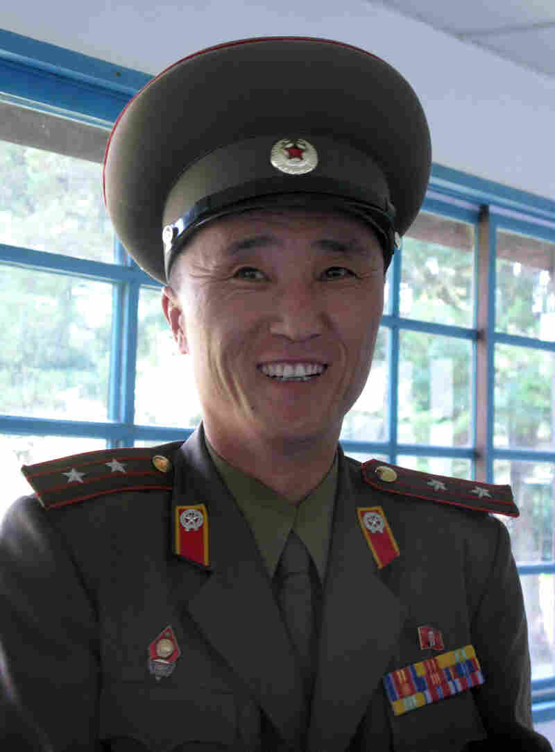 Tour guide Lt. Chae (shown here at the DMZ)