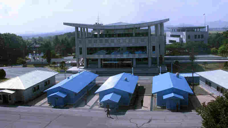 The demilitarized zone, or DMZ, divides North and South Korea.