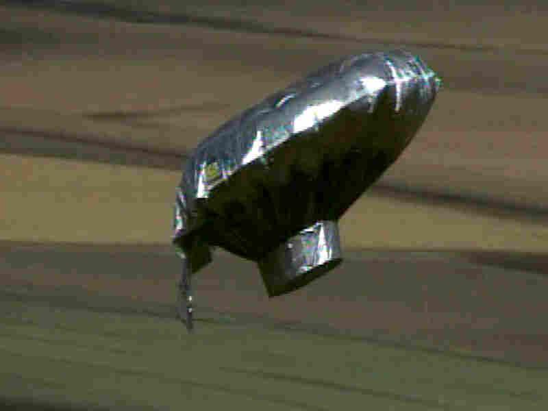 A small homemade helium balloon floats thousands of feet above Colorado.