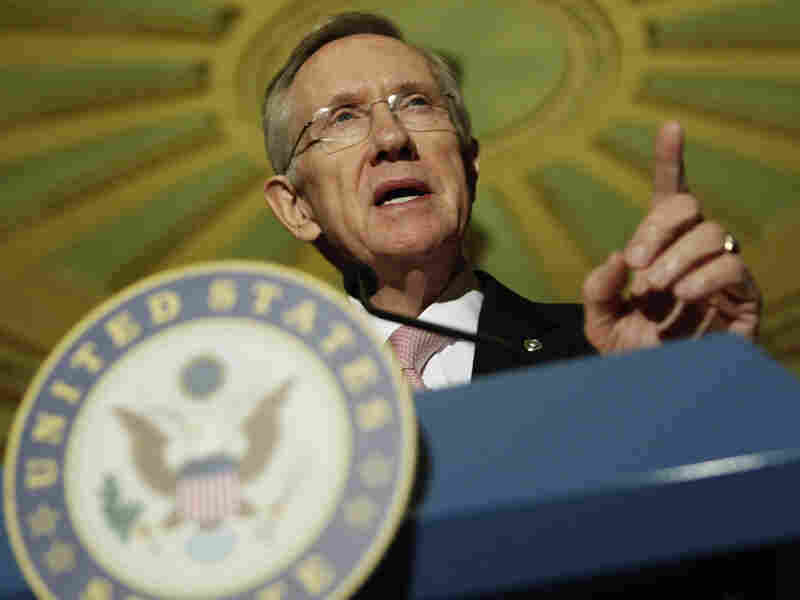 Harry Reid speaks on Capitol Hill about health care reform.