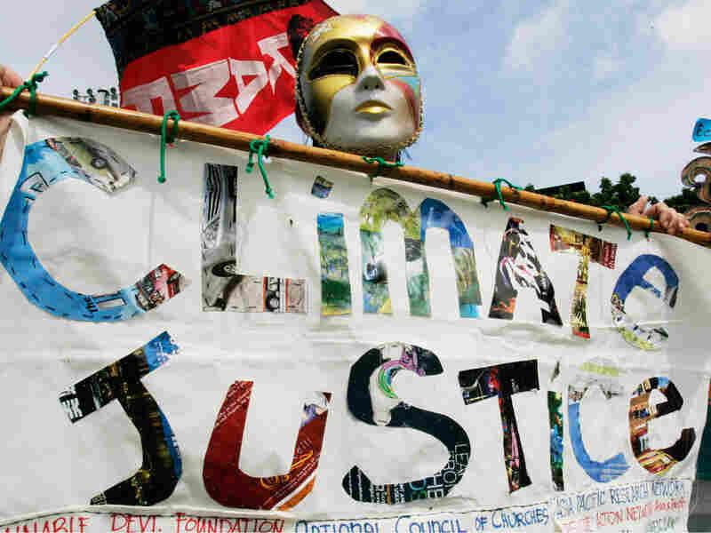 Activists at the climate talks in Bangkok
