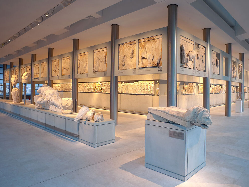 The Parthenon Gallery in the new Acropolis Museum