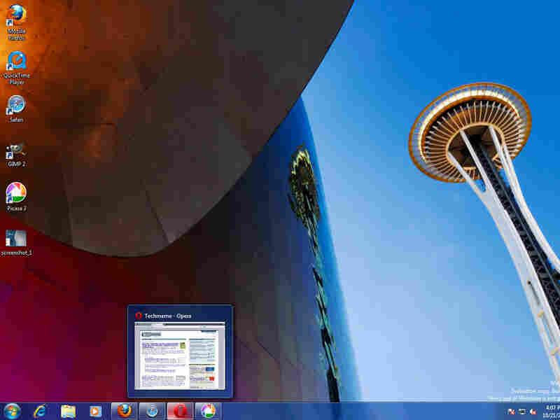 A computer screen showing a Windows 7 demonstration