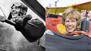 W: Amelia Earhart and Hilary Swank as Amelia