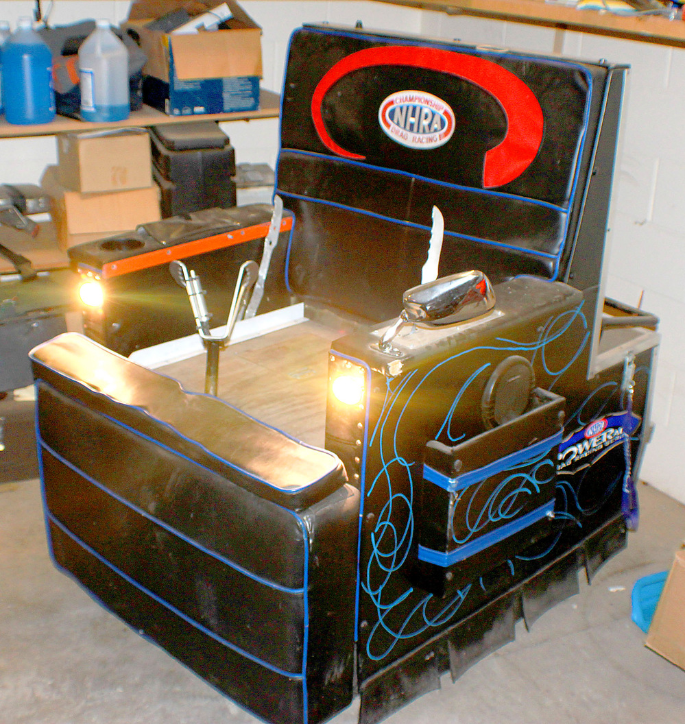 A motorized La-Z-Boy chair