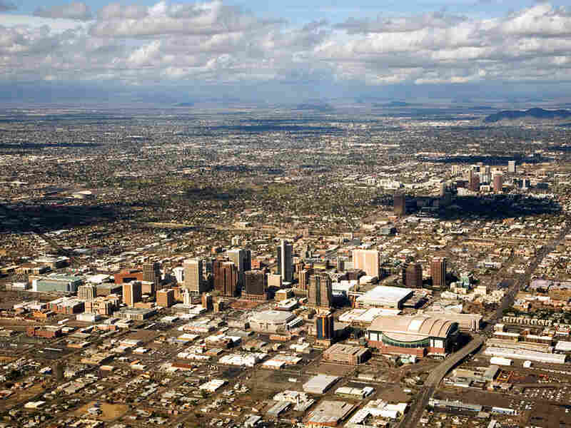 An aerial view of Phoenix