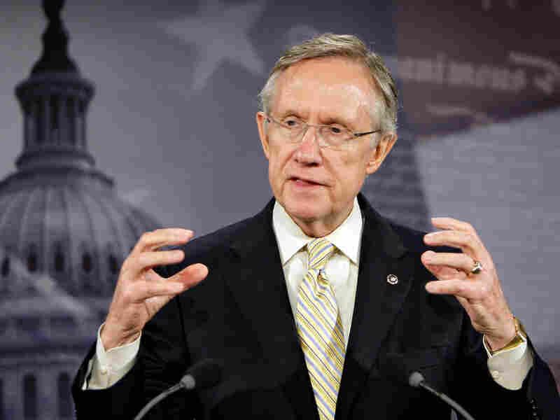 Sen. Harry Reid announces that the merged Senate bill will include a public option