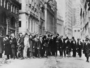 Men on Wall Street, October 1929.