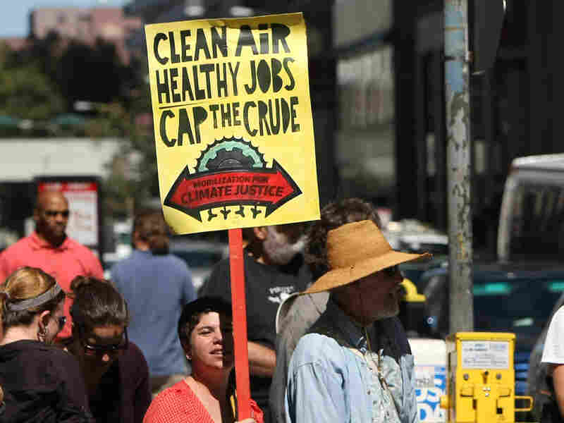 Demonstrating for tougher measures to stop climate change