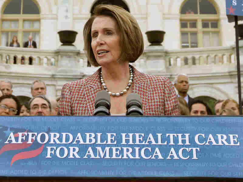 House Speaker Nancy Pelosi unveils a bill that overhauls the U.S. health care system.