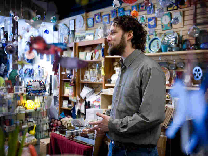 Andrew Arata, the owner of Earth and State craft shop in Media