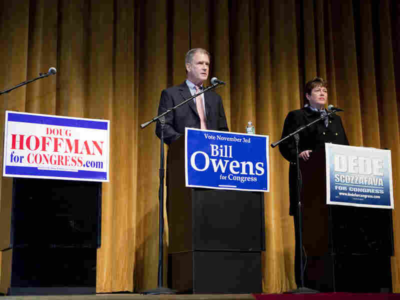 New York Congressional candidate Bill Owens debates former candidate Dede Scozzofava.