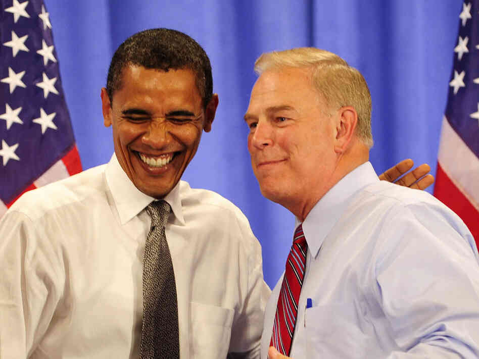 President Obama and Ohio Gov. Ted Strickland