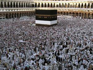 Muslims circle the Kaaba at Mecca, December 2008