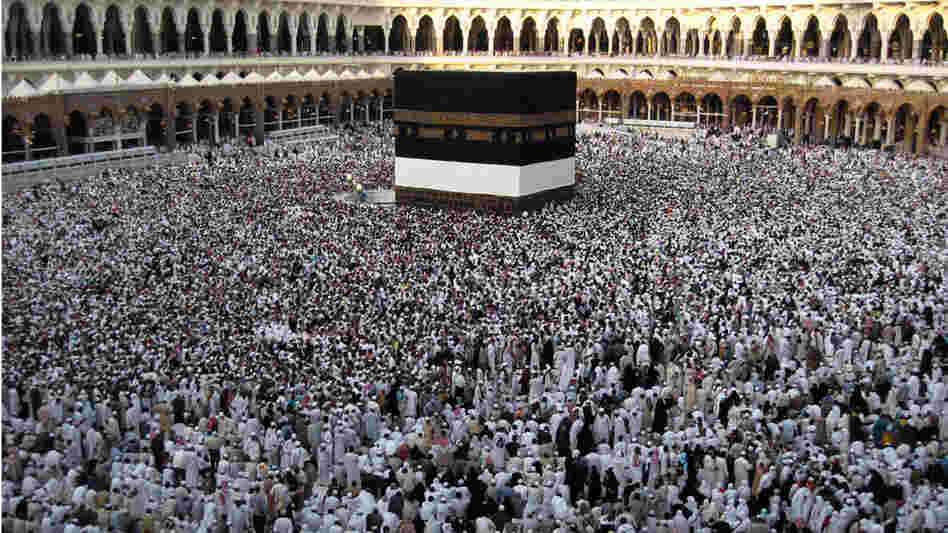 Muslims circle the Kaaba at Mecca, Dec. 2008