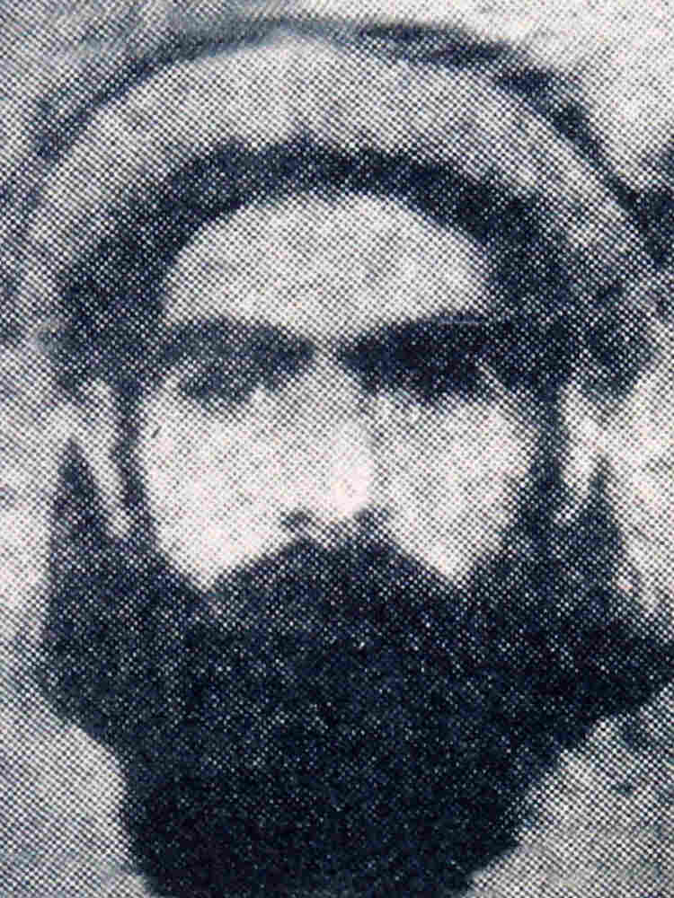 The rarely photographed Taliban leader Mullah Omar is reportedly seen in this undated photo.