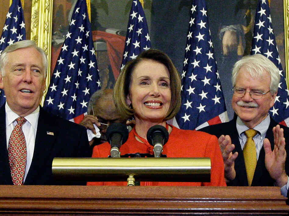 Speaker Nancy Pelosi House, Majority Leader Steny Hoyer and Rep. George Miller