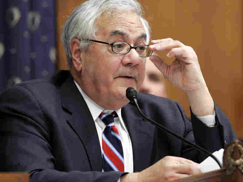 Rep. Barney Frank (D-MA) speaks on Capitol Hill in October