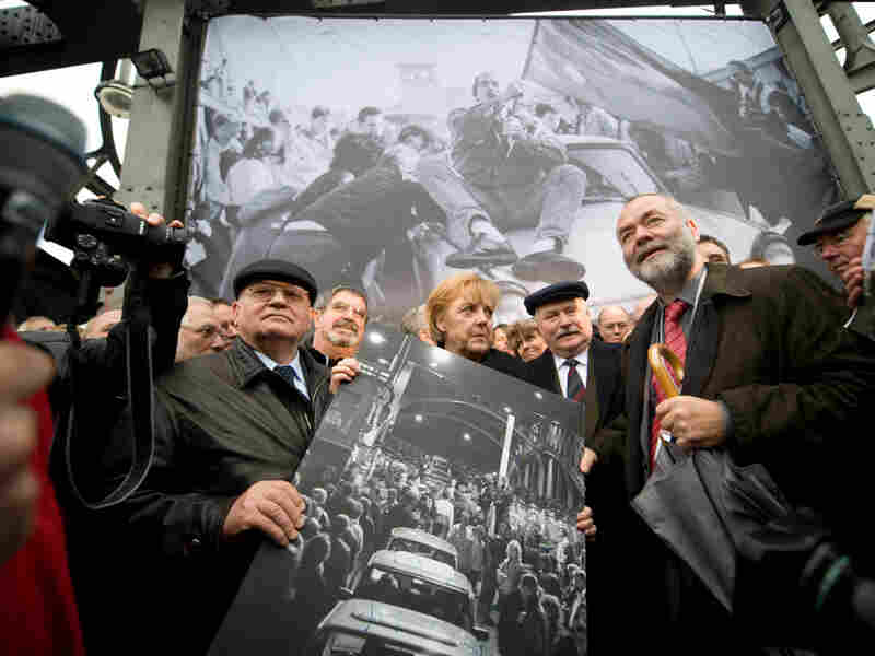 Mikhail Gorbachev, Angela Merkel and Lech Walesa